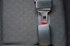 Seat belts in the car Royalty Free Stock Photography