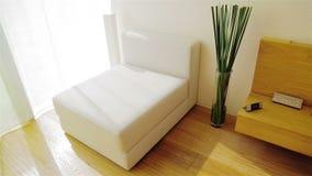 Seat branco. Interior luxuoso do apartamento video estoque
