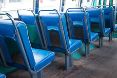 Seat on the bus. stock photo
