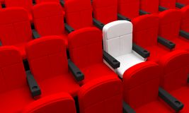 Seat cinema theater armchairs Royalty Free Stock Images
