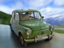 Seat 600. Classic car green color Stock Photos