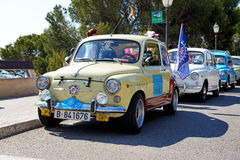 The SEAT 600 classic car parade Royalty Free Stock Photography
