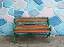 Seat and colorful wall Stock Images