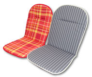 Seat cushions. Applicable for indoor and outdoor seats and chairs Stock Photo