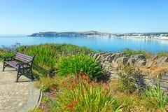 Seat, das Douglas Bay Isle des Mannes übersieht lizenzfreies stockbild
