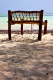 Seat deck beach rope Royalty Free Stock Photos