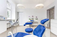 Seat in dentist room Royalty Free Stock Photo