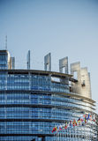 Seat des Europäischen Parlaments in Straßburg Lizenzfreies Stockbild