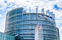 Seat des Europäischen Parlaments in Straßburg, Frankreich stockbilder