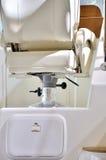Seat di zona di controllo su un yacht Fotografie Stock