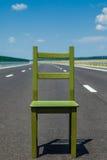 Seat en una carretera Imagen de archivo