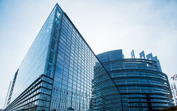 Seat of the European Parliament in Strasbourg,. France early in the morning Stock Photo