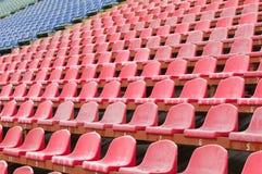 Seat für Zuschauer im Stadion Lizenzfreies Stockbild
