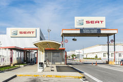 SEAT-Fabrik, Barcelona, Spanien Lizenzfreies Stockbild