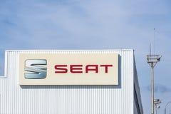 SEAT-Fabrik, Barcelona, Spanien Stockfotografie
