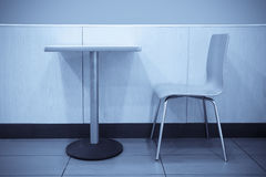 Seat in fast food restaurant Royalty Free Stock Photos