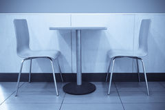 Seat in fast food restaurant Royalty Free Stock Images