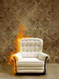 Seat in flame Stock Photos