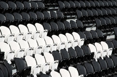 Seat in football stadium Stock Photo