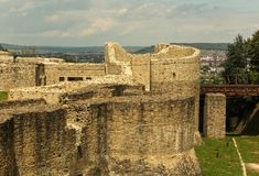 The Seat Fortress of Suceava royalty free stock photos