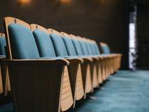 Seat Front Row en concepto del negocio del auditorio Imagenes de archivo