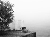 Seat at the Garda lake Stock Photo