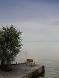 Seat at the Garda lake Royalty Free Stock Photos