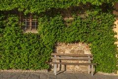 Seat in garden Royalty Free Stock Photos