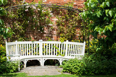 Seat in the Garden Royalty Free Stock Photo