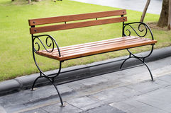 Seat in gardens Royalty Free Stock Photo