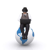 Seat on the globe. Stock Photo