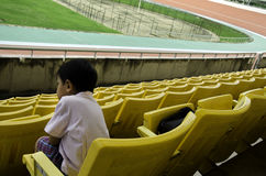 Seat grandstand. Child seat in the grandstand arena Stock Photography