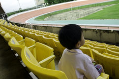 Seat grandstand. Child seat in the grandstand arena Royalty Free Stock Images