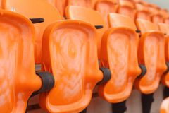 Seat grandstand in an empty stadium Stock Photography