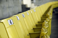 Seat grandstand. Grandstand seats in the stadium Royalty Free Stock Photos