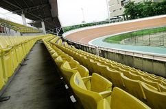 Seat grandstand. Grandstand seats in the stadium Royalty Free Stock Image