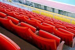 Seat grandstand. Royalty Free Stock Image
