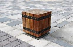 Seat ha fatto dei blocchi di legno immagine stock libera da diritti