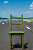 Seat in a highway Stock Image