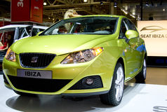 Seat Ibiza. At the Moscow International Automobile Salon, motor show (MIAS-2008) August 27 - September 7 Stock Images