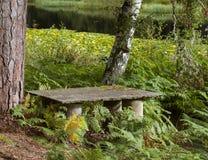 Seat im Wassergarten. Stockbilder