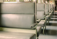 Seat inside the classic train Royalty Free Stock Photo