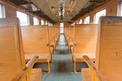 Seat inside train Stock Image