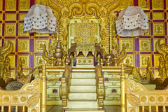 The seat of the king. King of the luxury seats royalty free stock photos