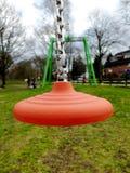 Seat línea de la cremallera aérea de las pistas o del cablecarril para los niños en Alemania fotos de archivo