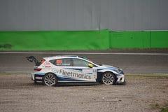 SEAT León Eurocup car at the Ascari chicane Stock Photos