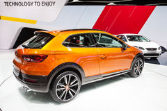 SEAT Leon Cross Sport am IAA 2015 Lizenzfreie Stockfotos