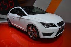 Seat Leon Cupra au Salon de l'Automobile de Genève Images libres de droits