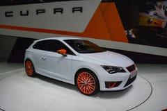 Seat Leon Cupra at the Geneva Motor Show Stock Image