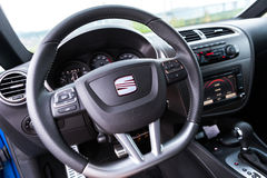 SEAT LEON CUPRA 2.0T Steering wheel Stock Photography
